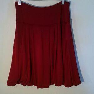 BCBG  MalAria burgundy skirt, size L